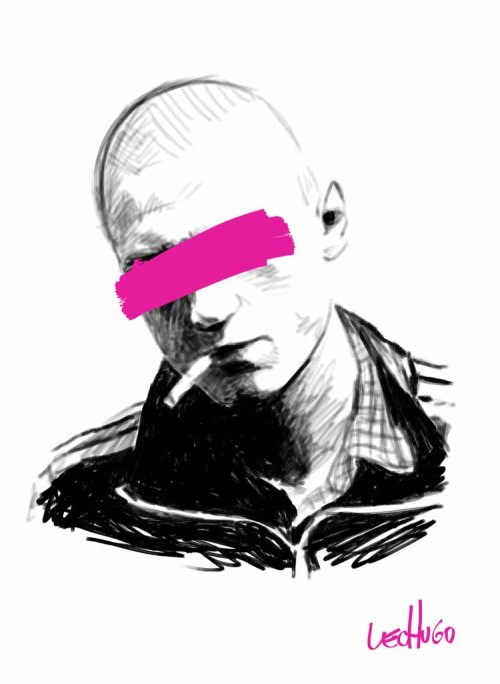 ilustracion de lechugo skinhead